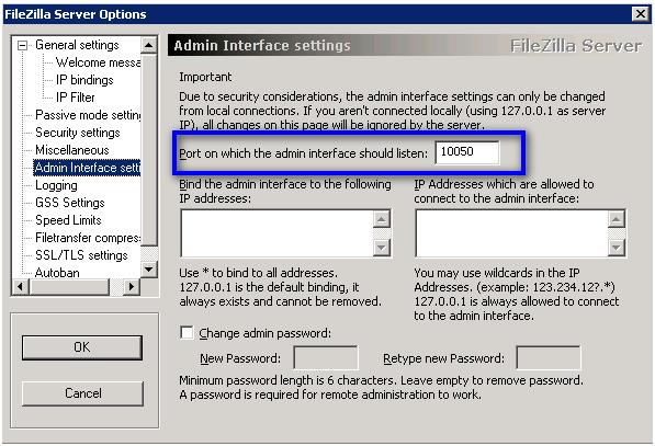 Настройка интерфейса администратора