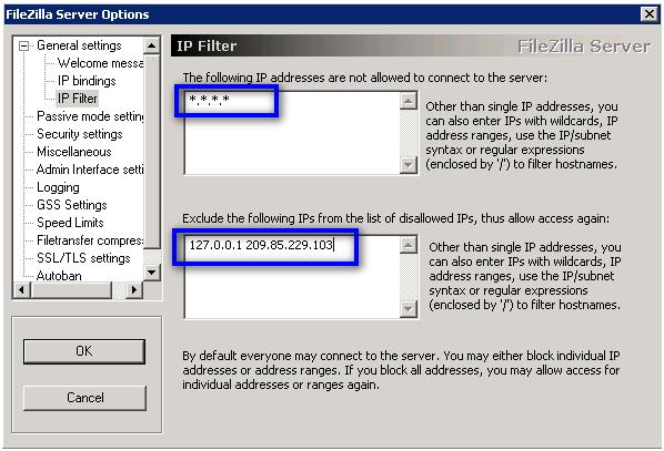 Ужесточение контроля доступа к серверу