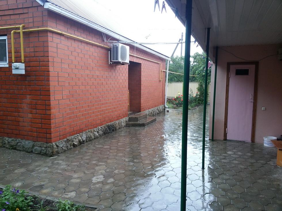 Вот так нас встретил дождик.