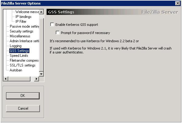 Настройка GSS