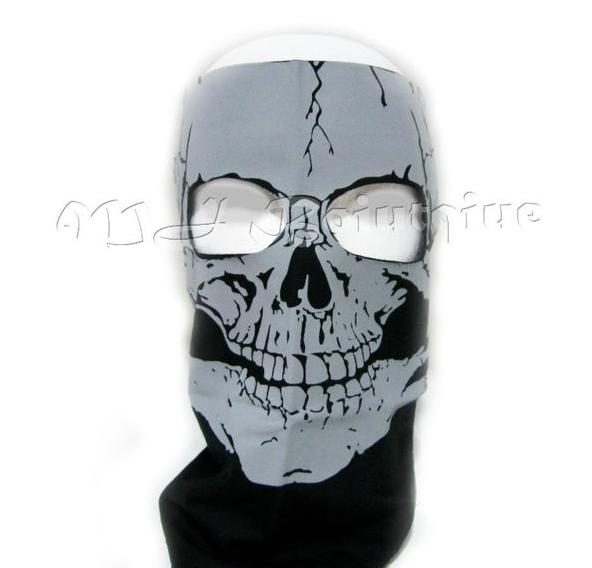 Skeleton Skull BANDANA full face mask Snowboard skiing Motorcycle