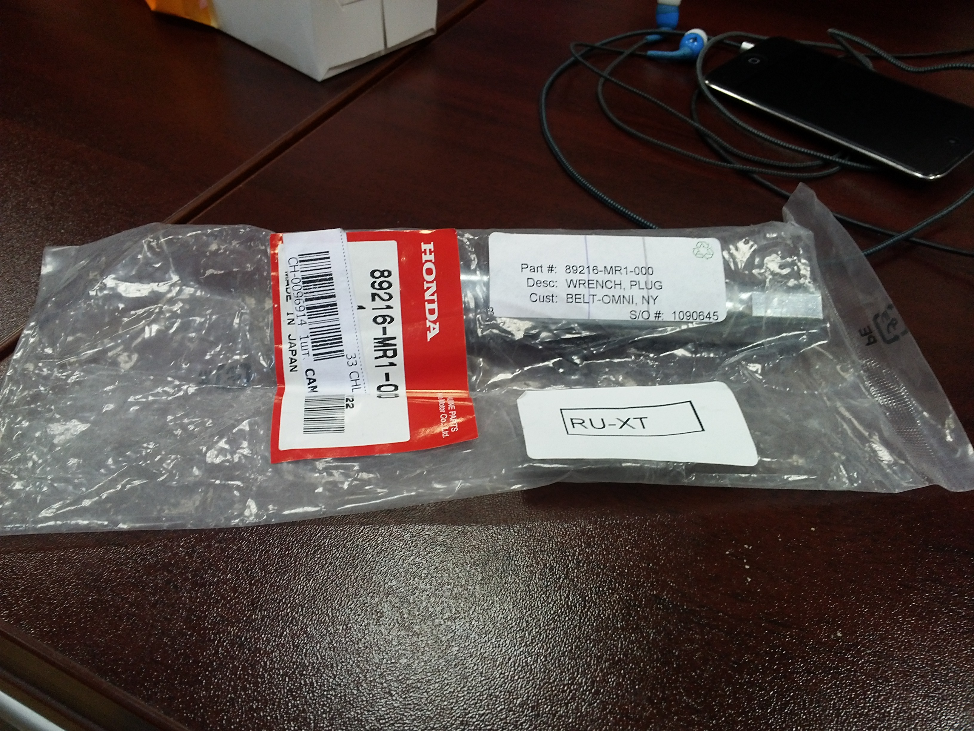 Свечной ключ для Honda Steed 400.