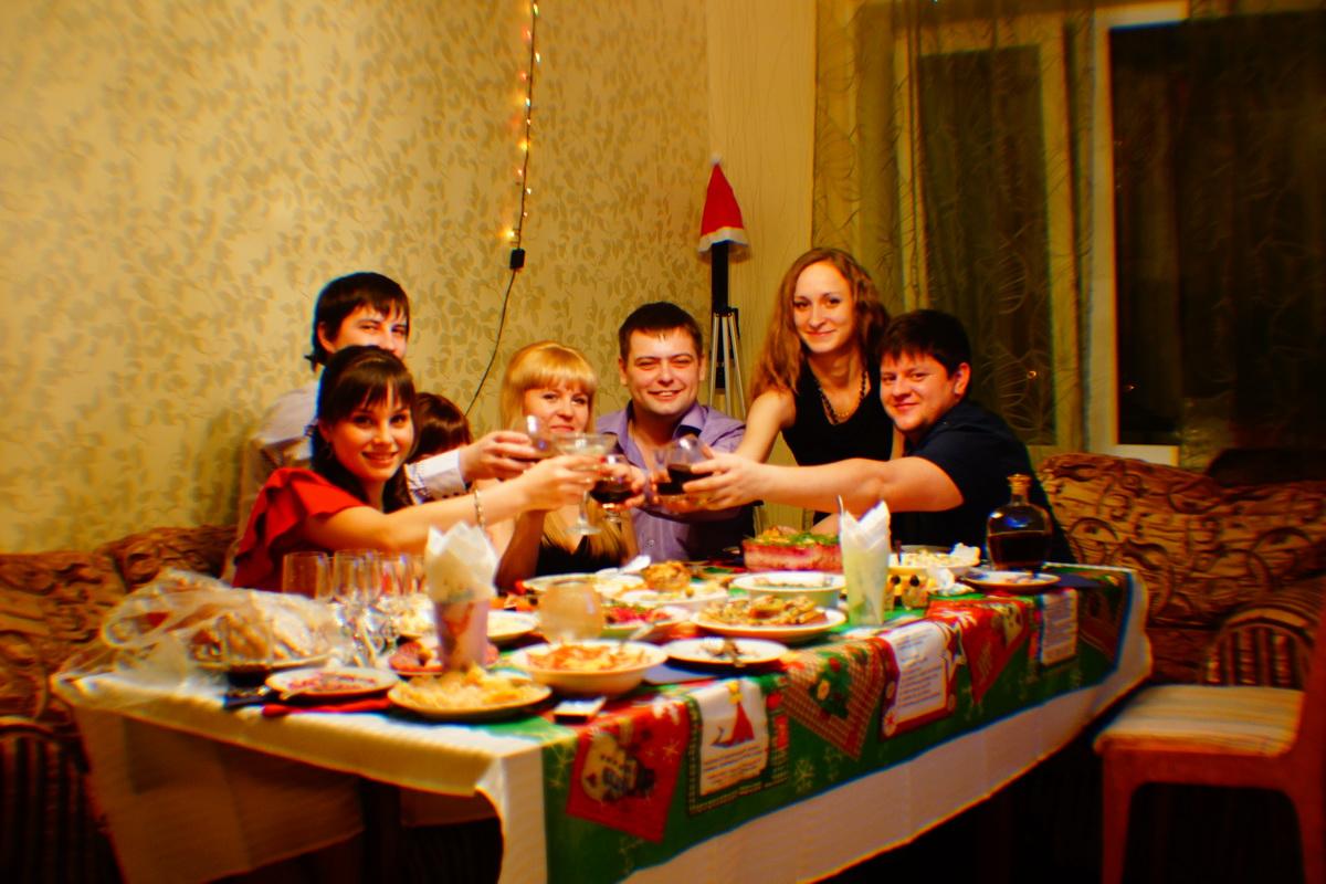 Празднование Нового 2013 года.