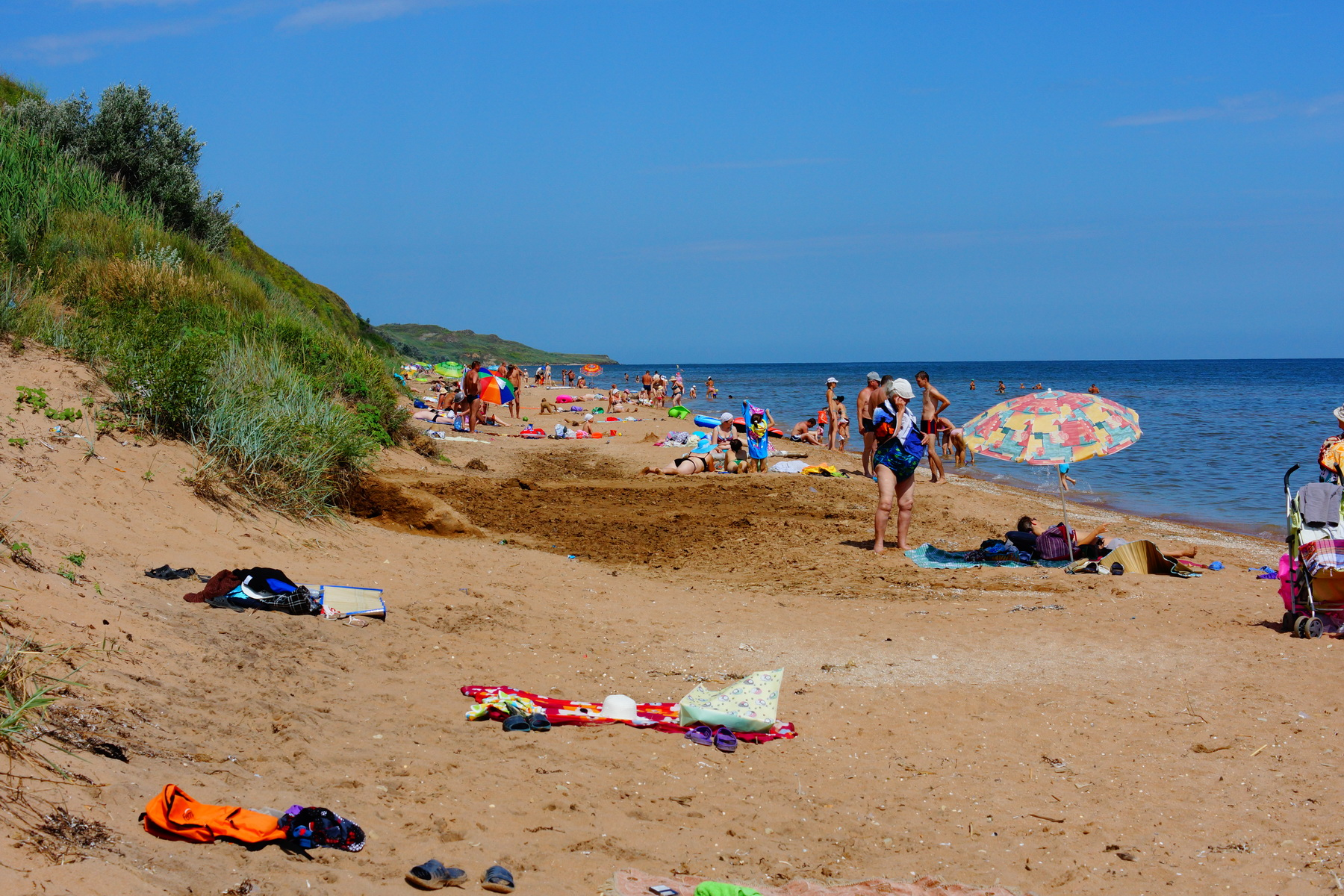 Кучугуры. Азовское море. Пляж.