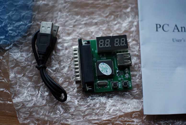 Собственно фото самого устройства. Подключение к LPT и питание от USB