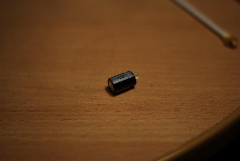 Старый конденсатор.