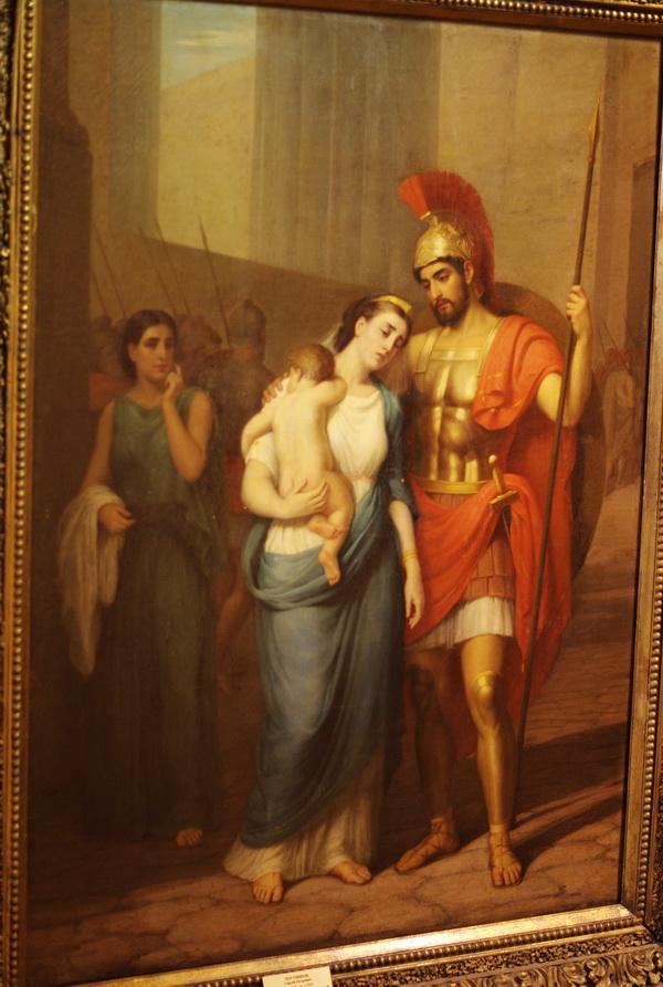 А это просто так, иллюстрация к Илиаде. Гектор и Андромеда.